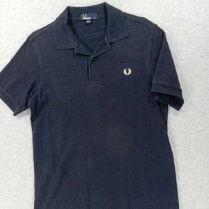 Fred Perry Logo Short Sleeve Polo Shirt Mens Small